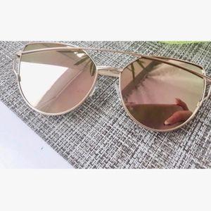 Rose Gold Vintage Cat Eye  Polarized SunglasseS